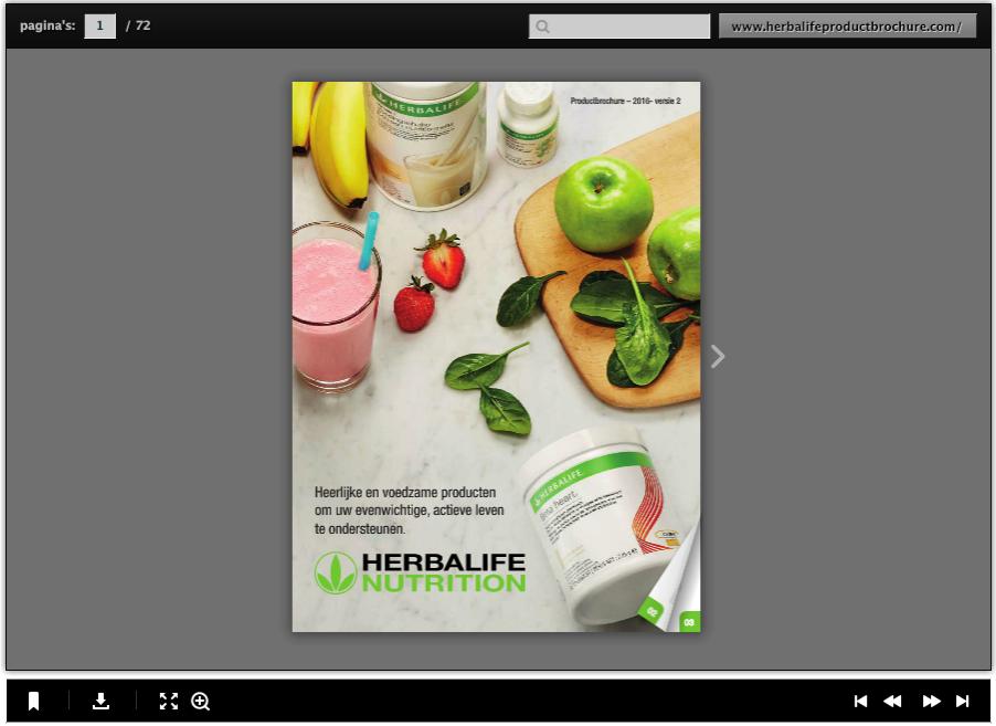 Herbalife productbrochure website